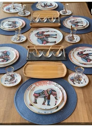 ROSSEV Kahvaltı Takımı Elephant 57 Parça 6 Kişilik Renkli
